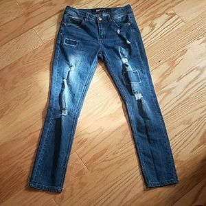 Rampage Ultra Distressed Skinny Jeans!